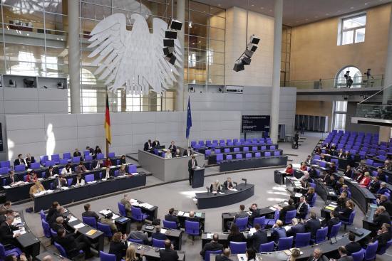 Plenum des Deutschen Bundestages